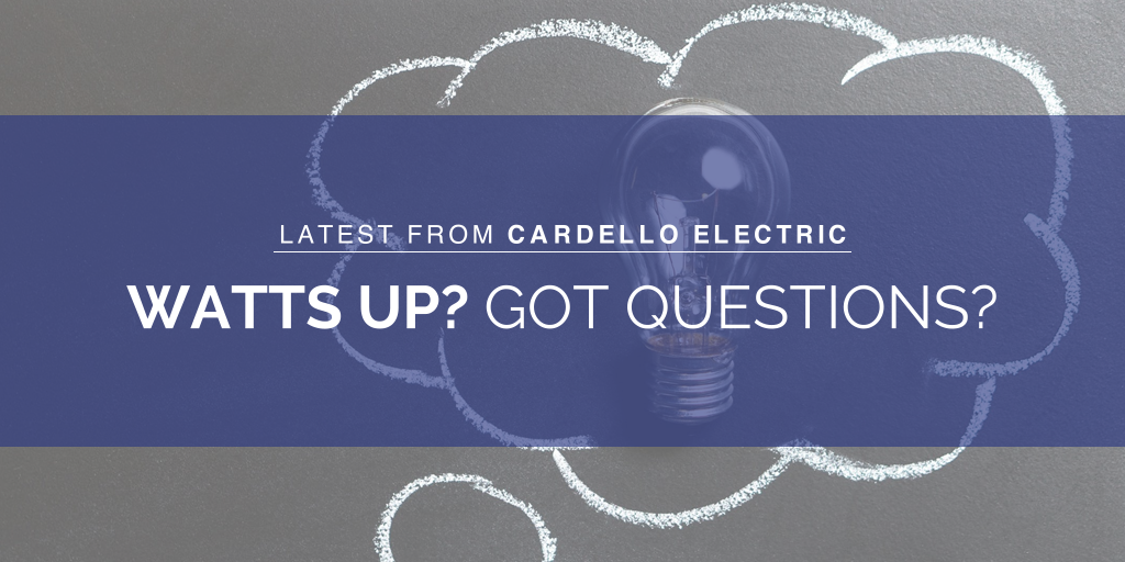 light bulb in thought bubble asking electrical questions