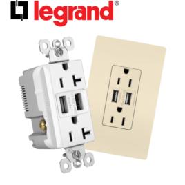 Legrand Radiant USB Charger w/ Tamper Resistant Outlet
