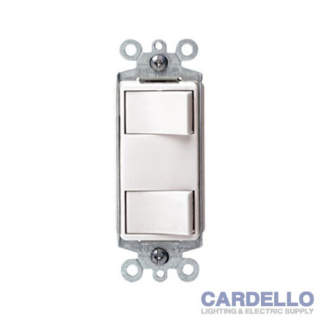 1754-W Decora Dual Rocker Combination Switch